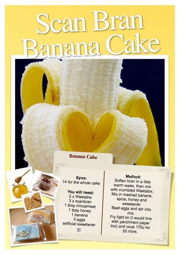Banana Scan Bran Cake
