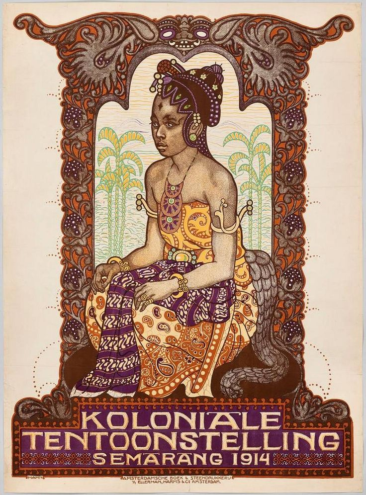 Poster, 'Koloniale Tentoonstelling Semarang 1914.' Designer Albert Hahn; printer Amsterdamsche Boek & Steendrukkerij v/h Ellerman, Harms & Co.