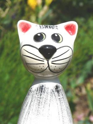 1000 images about katzen keramik on pinterest - Keramik katzen fur garten ...