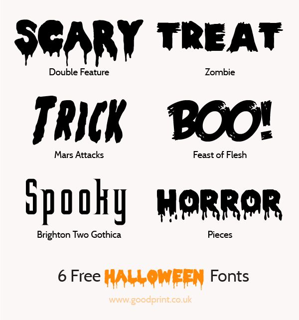 good fonts 6 free fonts for the perfect halloween invitations and flyers goodprint ltd - Good Halloween Font