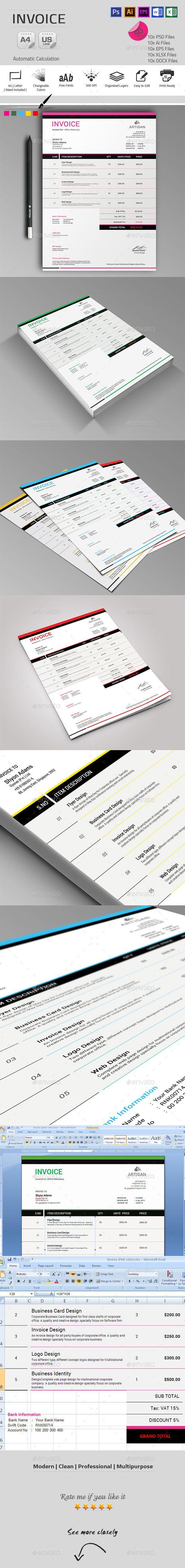 24 best Design: Invoices images on Pinterest | Invoice design ...