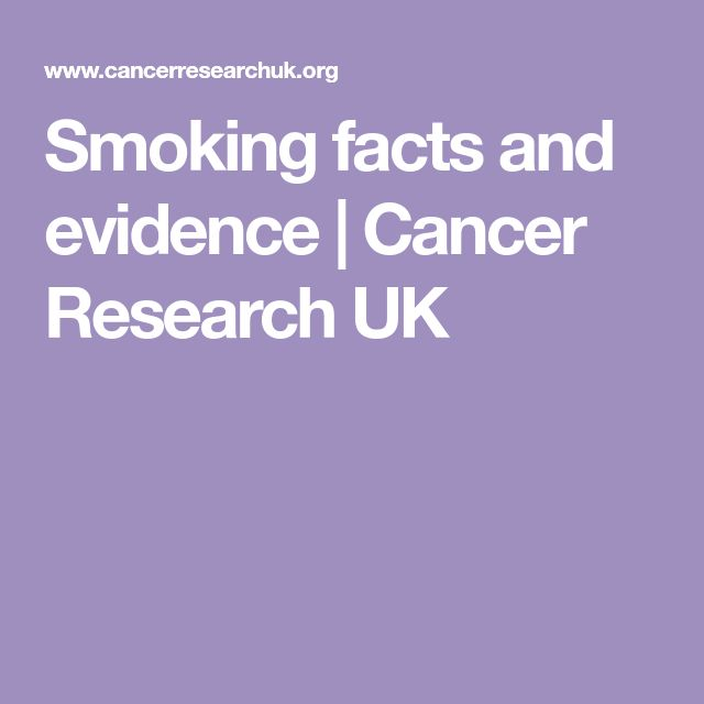 Smoking facts and evidence | Cancer Research UK