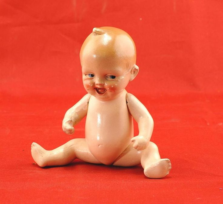 Miniature German Bisque Dolls - Kewpie
