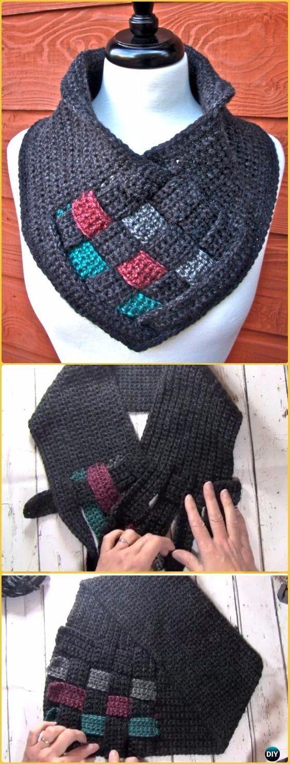 Crochet Be Weaving Cowl Free Pattern &Video - Crochet Infinity Scarf Free Patterns