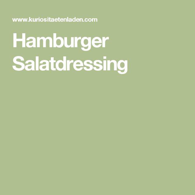 Hamburger Salatdressing