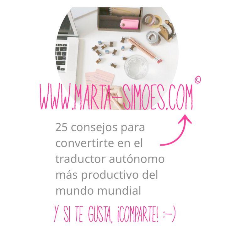 ¿Aún no has leído mi nuevo artículo sobre #productividad para #traductores? Haz clic en la imagen :-) www.marta-simoes.com - #translation #xl8 #productivity