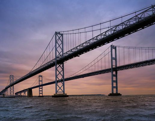 The Chesapeake Bay Bridge in Maryland spans over 4.3 miles and is one of the world's longest continuous over-water steel structure [Getty Images]