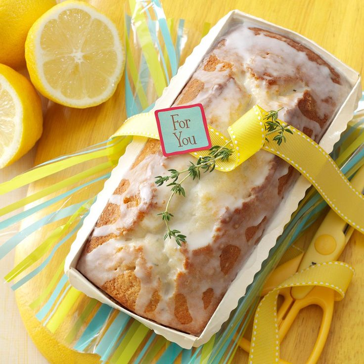Lemon-Thyme Tea Bread Recipe -I received this recipe as part of a gift, along with a lemon thyme plant and a fresh loaf of this pound cake-like bread. Everyone who tries it asks for the recipe. —Jeannette Mango, Parkesburg, Pennsylvania