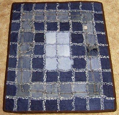 Denim rag quilts-several different patterns
