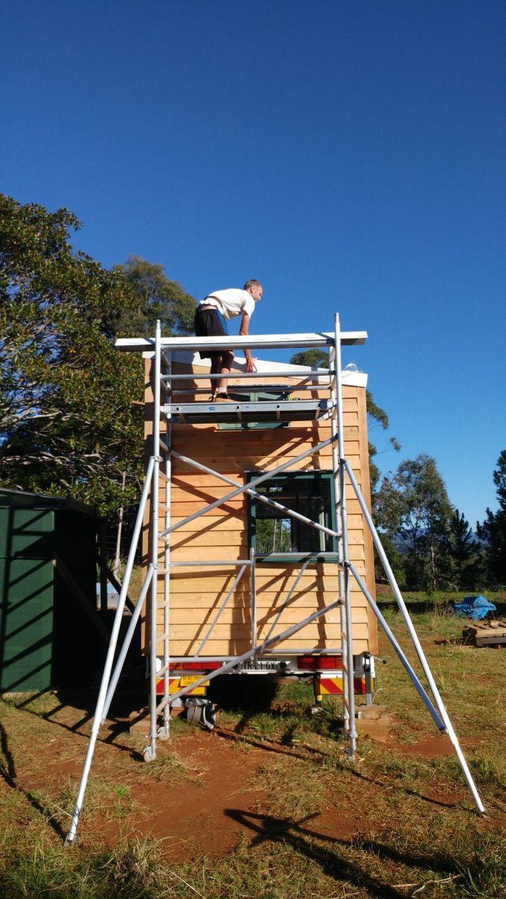Tiny House | Tiny House Roof Flashing | DIY | Living Tiny And Green |