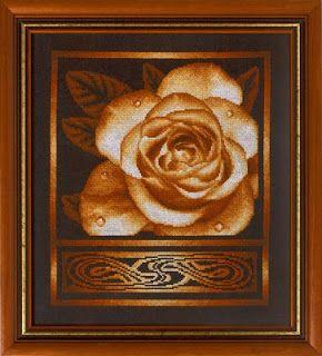 """Вышивалка 刺繍: Скачать схему вышивки """"Panna"""" Ц-1021 «Золотистая роза»"""