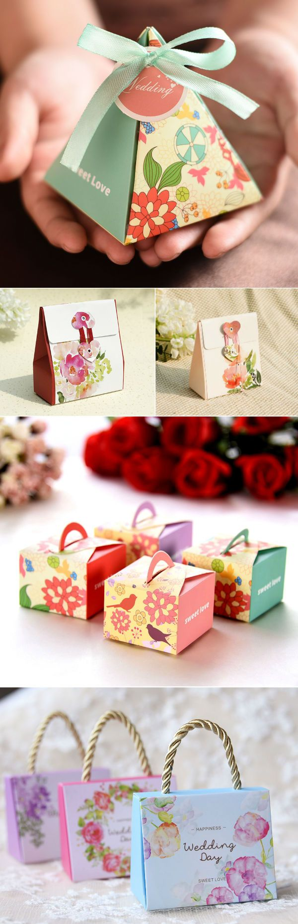 chic paper box wedding favors ideas