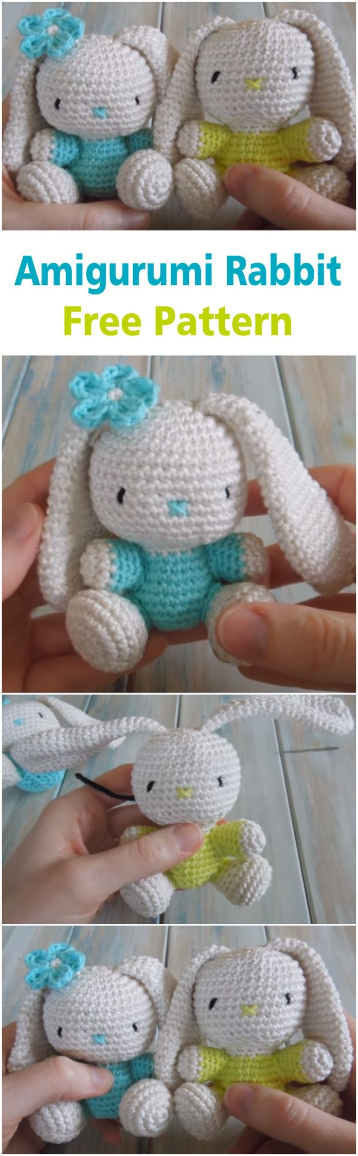 Crochet an Amigurumi Rabbit Free Pattern