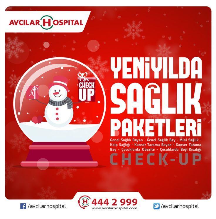 Yeni yılda Sevdiklerinize Check-Up'la Sağlık Hediye Edin!  2017'ye sağlıklı bir merhaba demek için sizler için Check-up paketleri hazırladık.  Detaylı bilgi ve randevu için 444 2 999'nolu telefon numarasından ulaşabilirsiniz.  #yeniyıl #yılbasi #yeniyildasaglik #saglikliyillar #2017 #2016 #checkup #saglikli #yasam #istanbul #türkiye #avcilarhospital