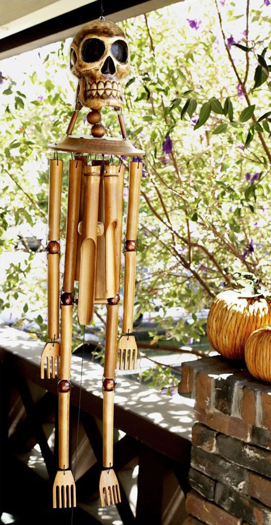windchimes images | Bamboo Skeleton Wind Chimes - The Green Head