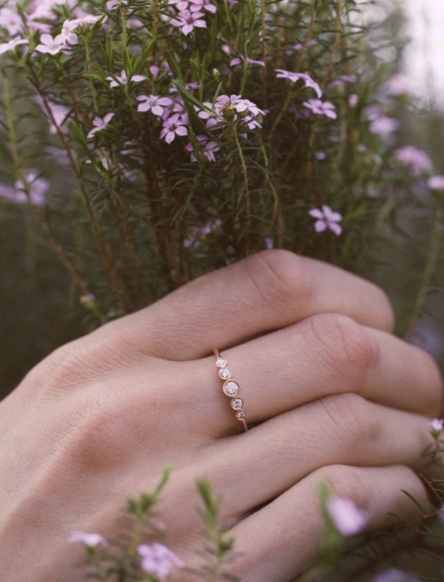14kt gold and diamond Constellation ring – Luna Skye by Samantha Conn