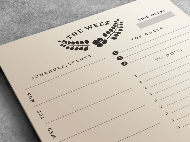 Weekly Planner Notepad   To Do List
