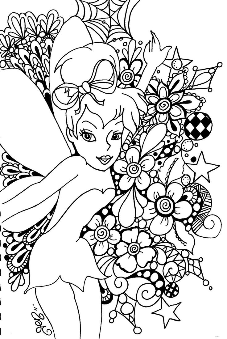 Lisa frank coloring pages to color online - Free Printable Tinkerbell Coloring Pages For Kids