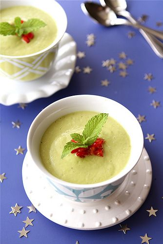 Chilled California Avocado Soup with Coconut Milk