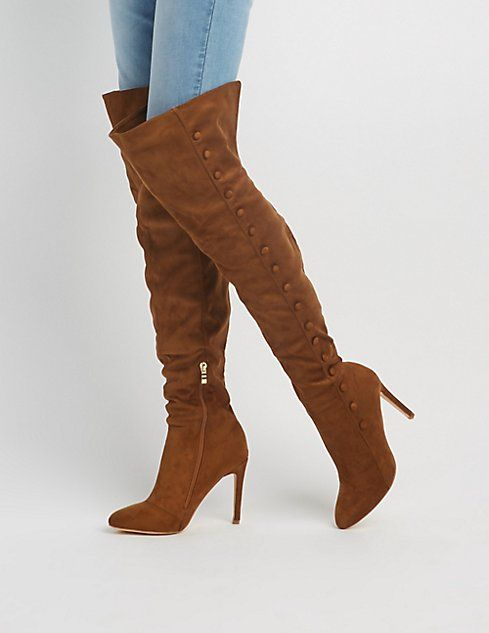 3e390e16491 Faux Suede Over-The-Knee Boots
