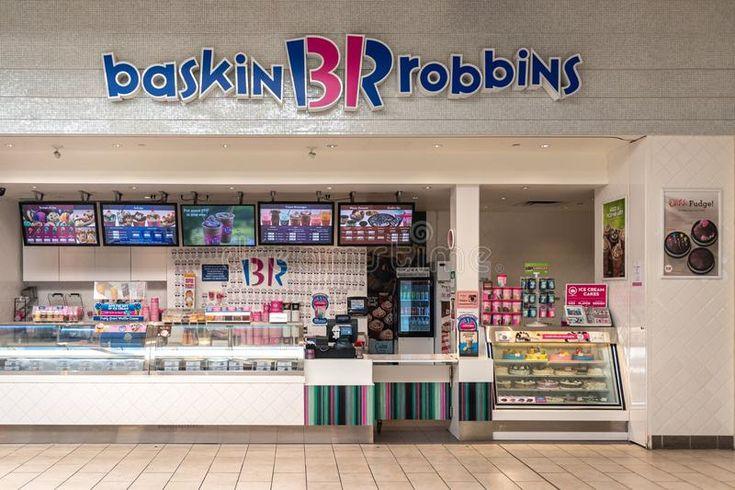 Baskin robbins store in a shopping mall toronto canada
