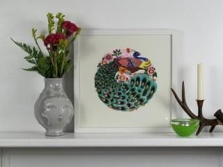 Peacock PaperCut Artwork