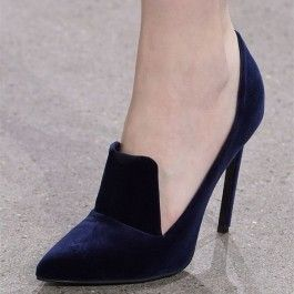 How about this shoe?  Share to get a coupon for all on FSJ Navy Velvet Heels Pointy Toe Stiletto Heel Pumps for Office Lady