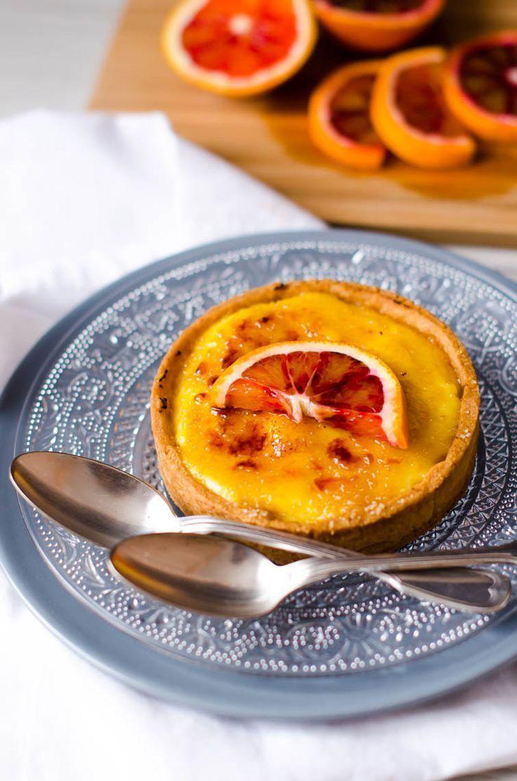 Tartelettes à l'orange façon crème brulée