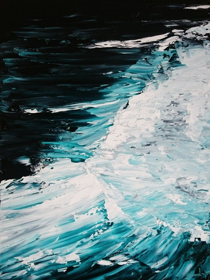 Break - Tasmanian Oil painting on canvas, 2015 Eaglehawk Neck Tasmania, ocean/wave painting.