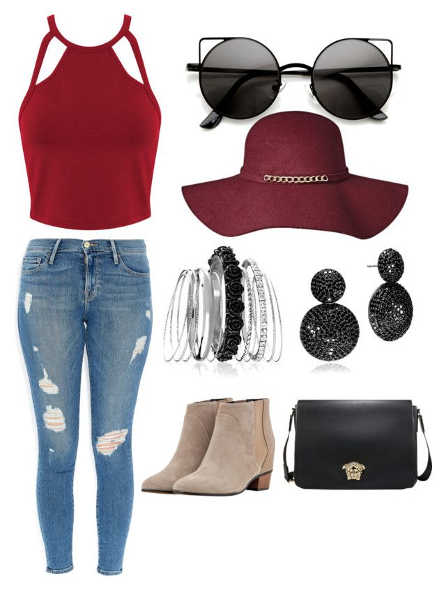 """""""Dreamworld"""" by hannahlee01 on Polyvore featuring Frame Denim, Augusta, Miss Selfridge and Avenue"""