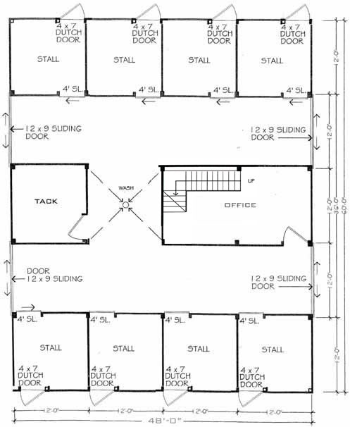 Pretty nice looking barn layout horse barn pinterest for 8 stall barn plans
