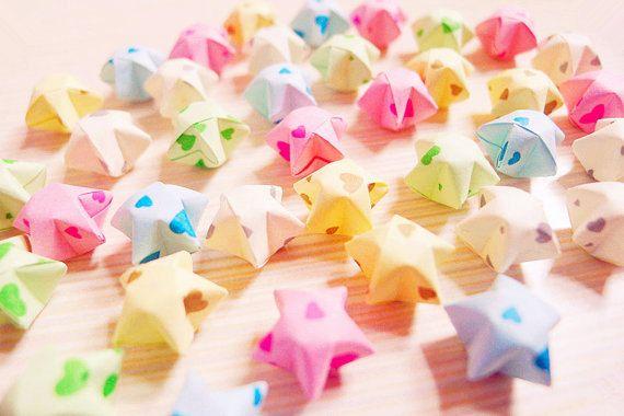 Cute Sweet harten Origami Lucky Stars wensen van Yeestore op Etsy