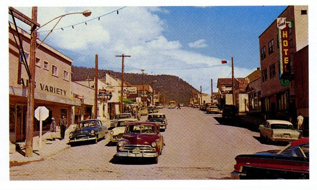 A late 1950s postcard of the little Cariboo town of Williams Lake, British Columbia.