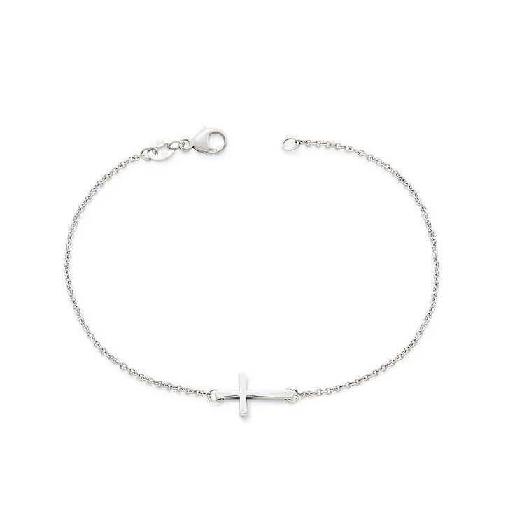 Petite Latin Cross Link Bracelet