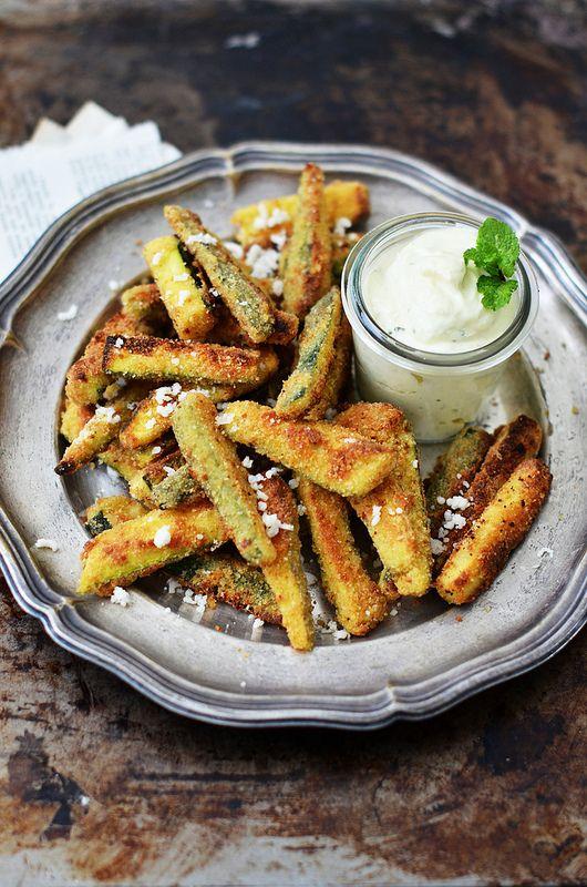 Zucchine snack e finta maionese