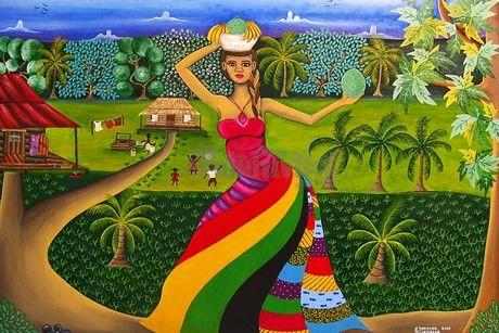 Breadfruit Time – Arte Primitivista. Karen Spencer, Caribbean Coast of Nicaragua. www.primitivista.com