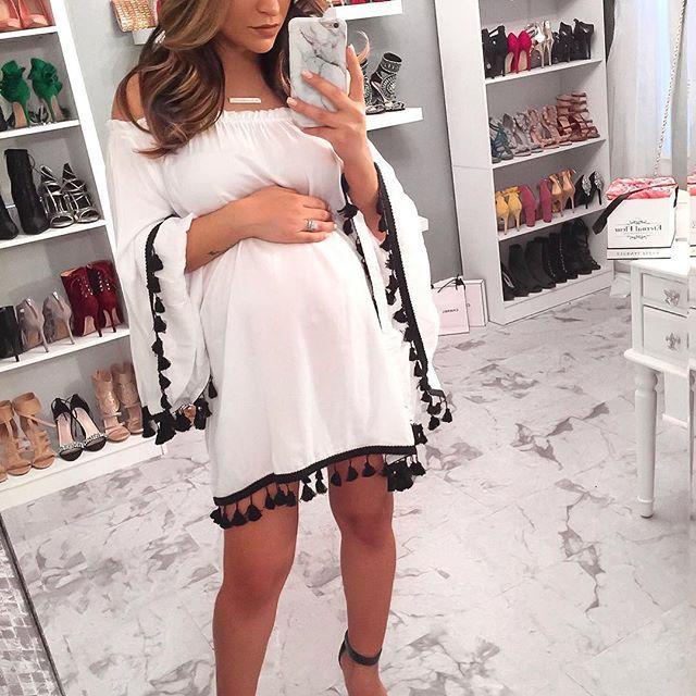 Un de mes styles préférés sont les robes amples comme celle-ci en été !! La …  – Maternity Style