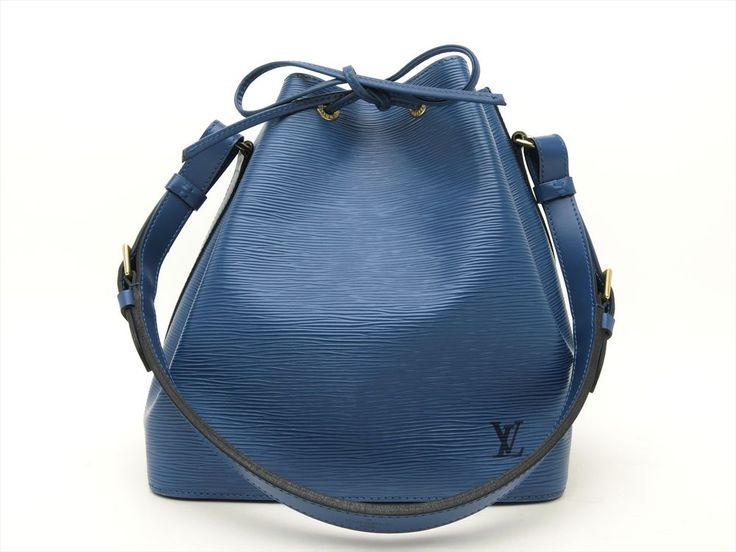 Louis Vuitton Authentic Epi Leather Blue Petit Noe Shoulder Tote Bag Auth LV #LouisVuitton #TotesShoppers