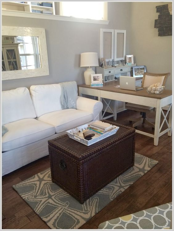 Calm Cozy Office With Touches Of Beach Decor Home Addition
