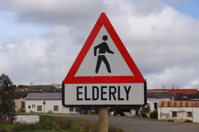 Elderly Sign - Funny Travel Photo from Elim, South Africa