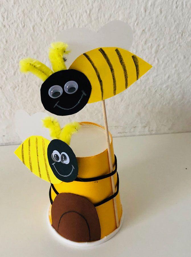 Biene Basteln Aus Papier Einfache Anleitung 9