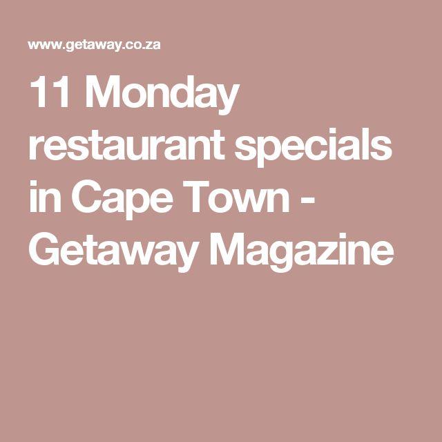 11 Monday restaurant specials in Cape Town - Getaway Magazine