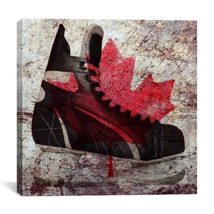 default_name Canada hockey, Canvas art, Skate art