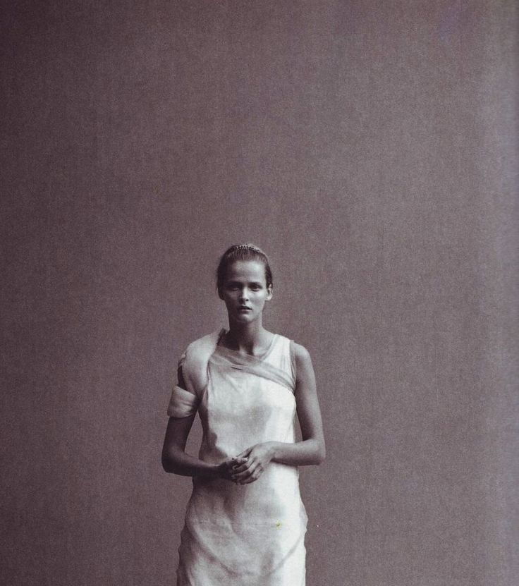 Carmen Kass in Portrait of Style by Peter Lindbergh for Vogue Italia January 1999