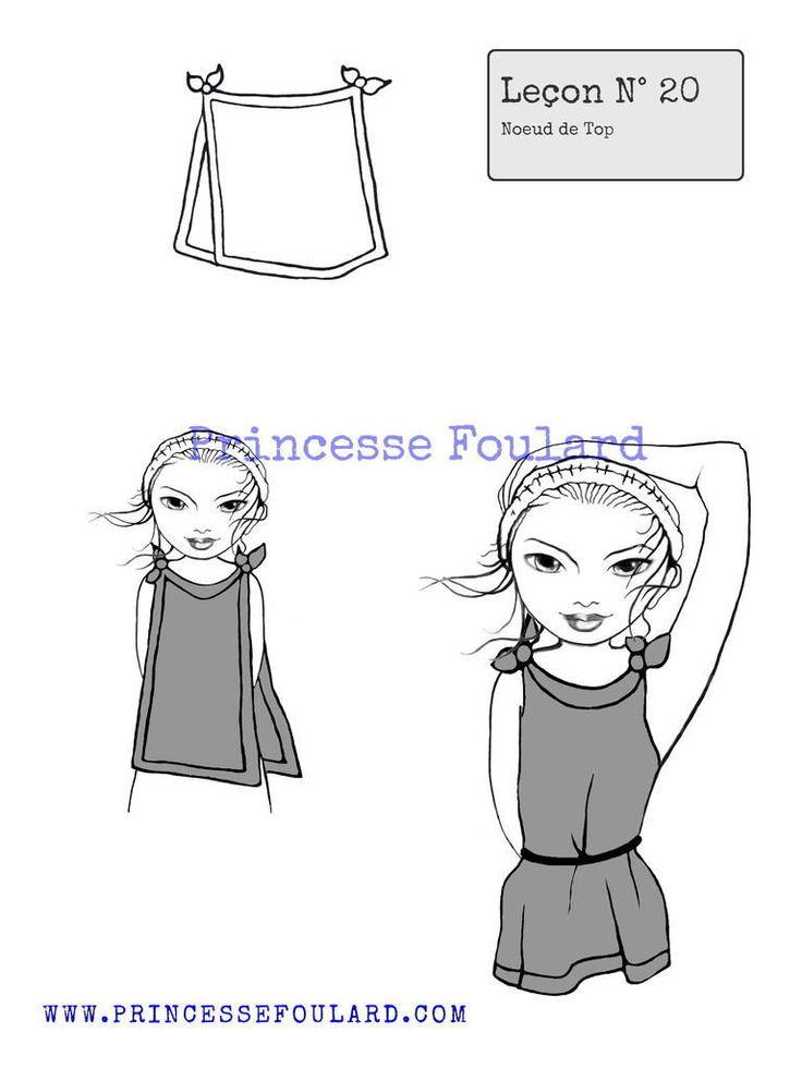 139 best noeuds de foulard images on pinterest scarf knots head scarfs and the map - Comment nouer un noeud papillon ...