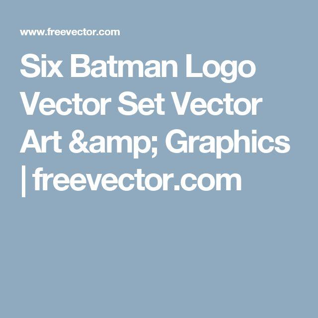 Six Batman Logo Vector Set Vector Art & Graphics   freevector.com