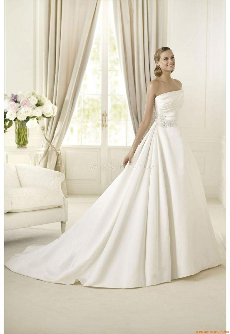 緊縛ウェディング1 サテンのウェディングドレス, 結婚式のdressses, Pronoviasのウェディングドレス, ウェディングドレス2013, ブライダルドレス,  Pronoviasブライダル, ...
