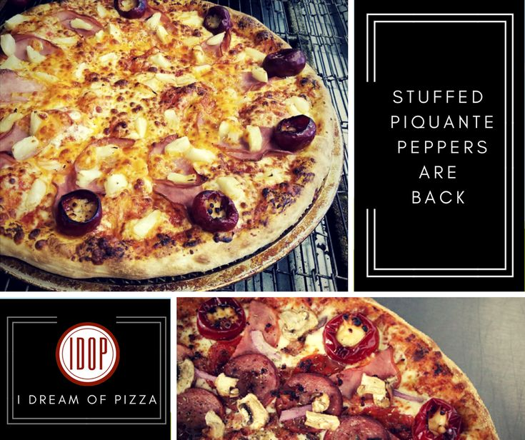 Stuffed Piquante peppers on pizza by I Dream of Pizza