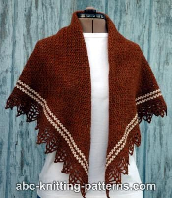 Pretty Stripe Shawl