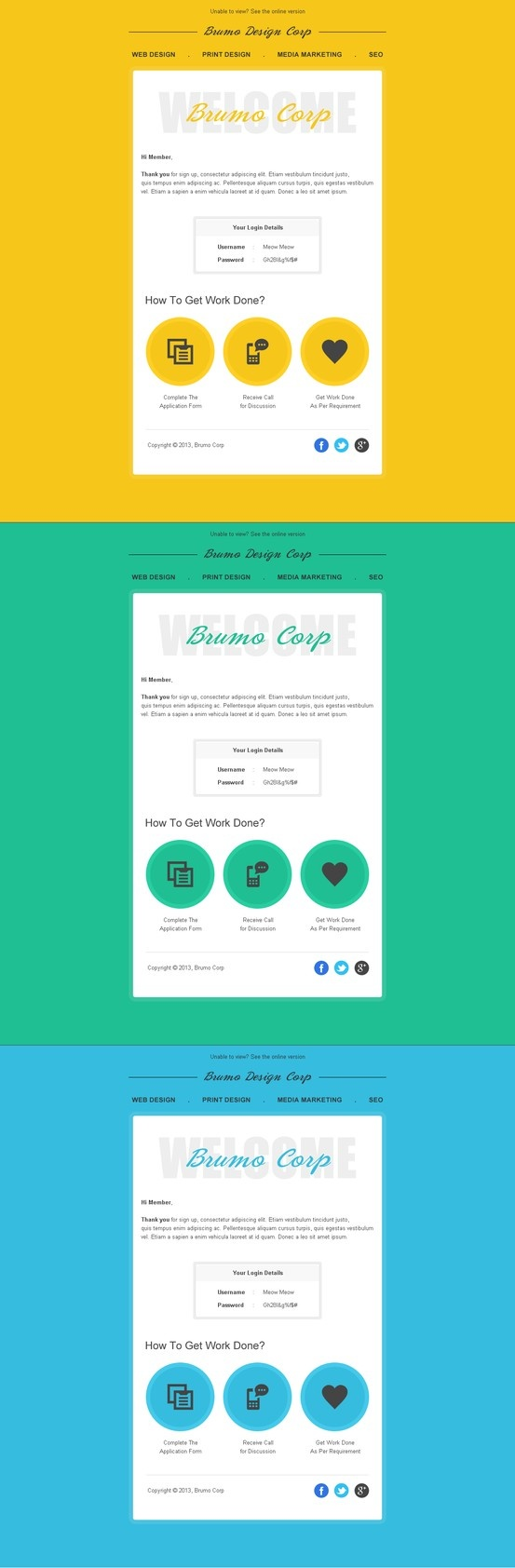 Welcome Email Message Template - Welcome email template html